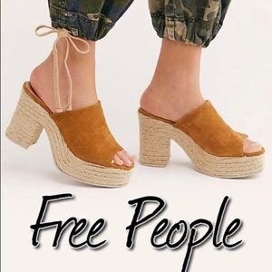 Free People Larissa Espadrille Platforms NWT 9